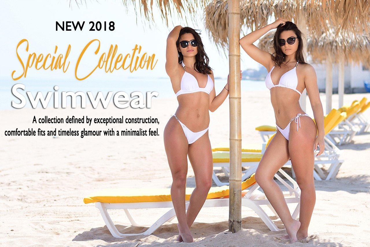 New Special Collection 2018 Swimwear Gabbi White